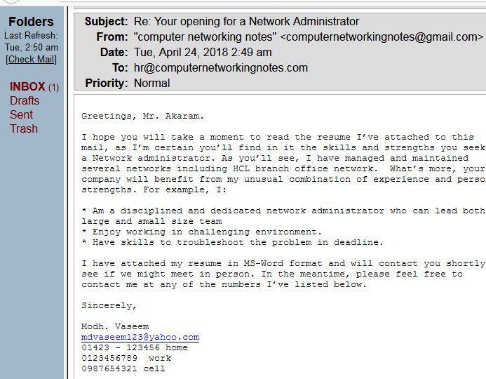 Greetings In Cover Letter from www.computernetworkingnotes.org