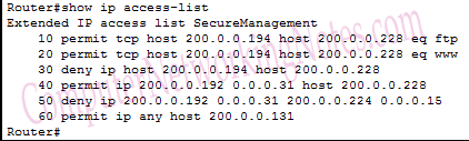 show ip access list command