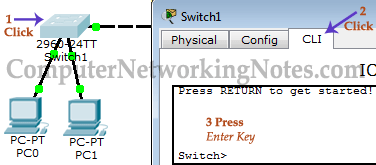 access command prompt in packet tracer