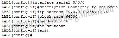 Configure serial interface in cisco router
