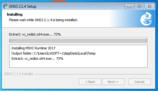 gns installation running