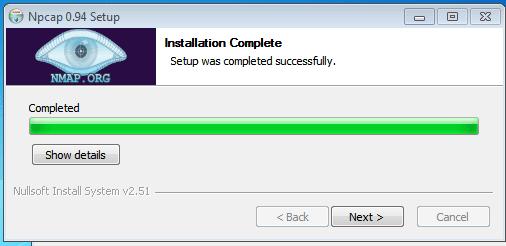 npcap installed