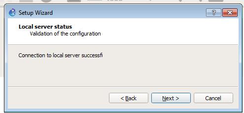 server setup complete
