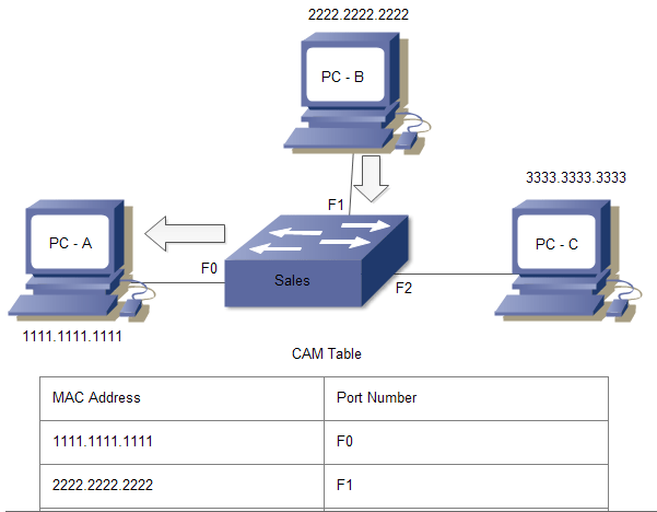 switch address learning process