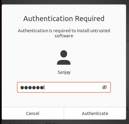 authenticate installation