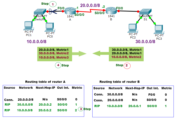 routing update without split horizon feature