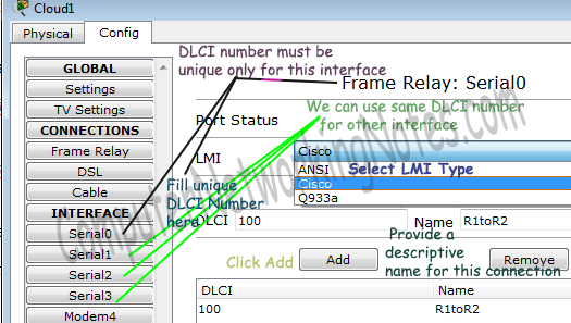 configure frame relay in packet tracer step 2