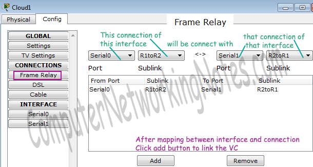 configure frame relay in packet tracer step 1
