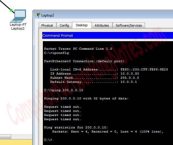 nat testing fail