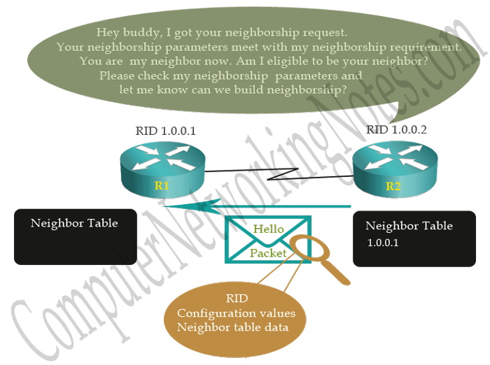 ospf neighborship prcess state two way