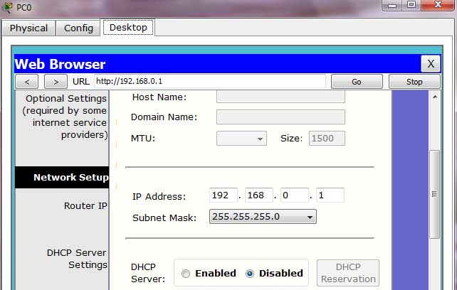 wireless disable dhcp
