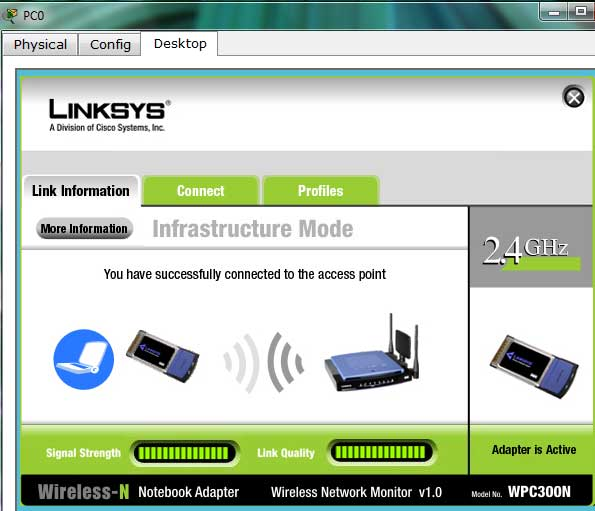 wireless pc connected