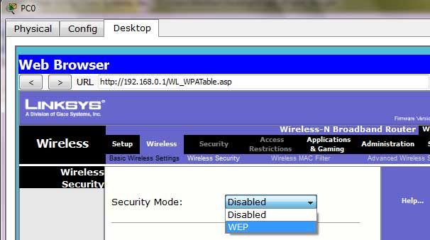 configure wireless security