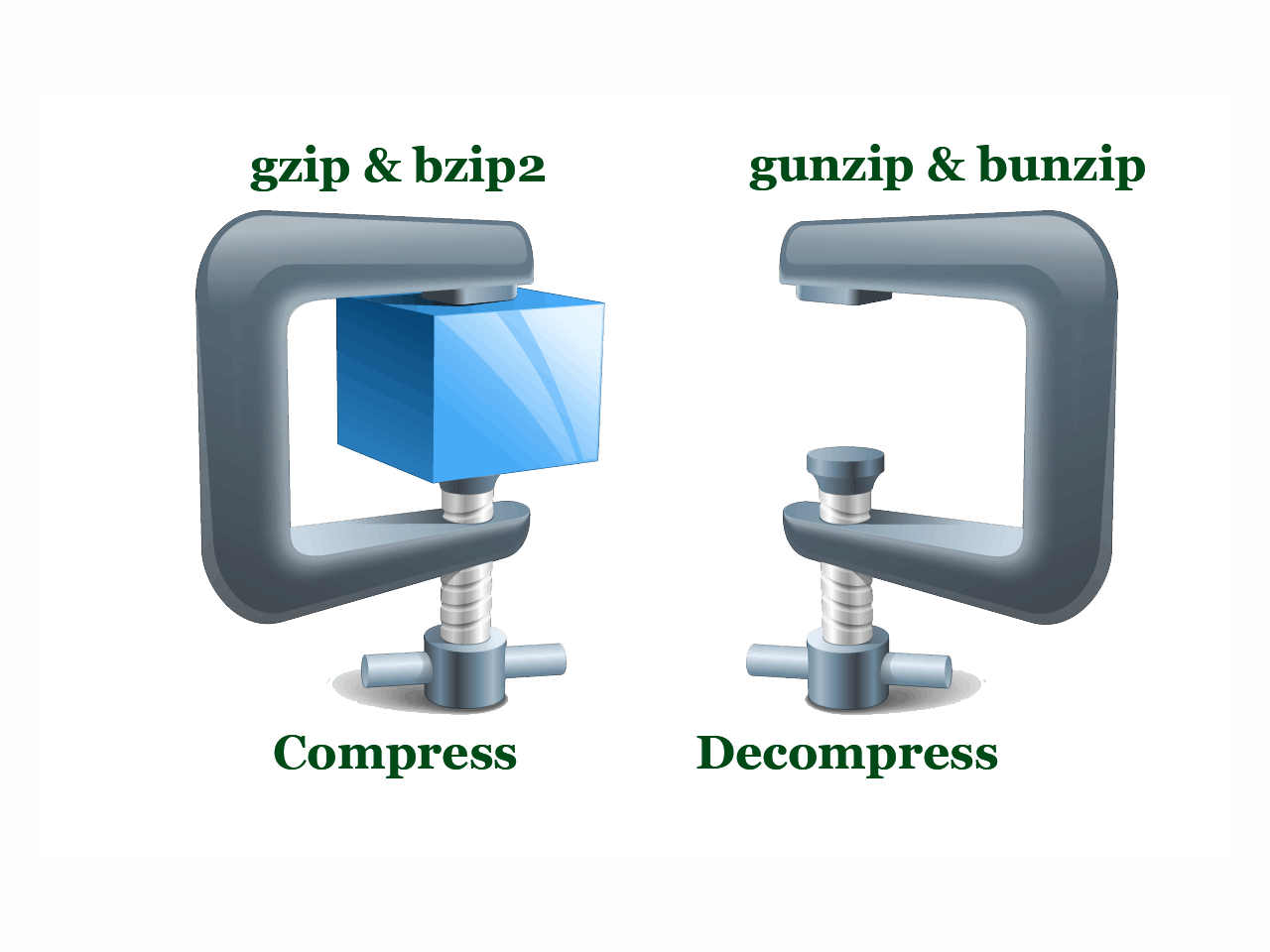 Compress and Decompress Files in Linux with gzip and bzip2