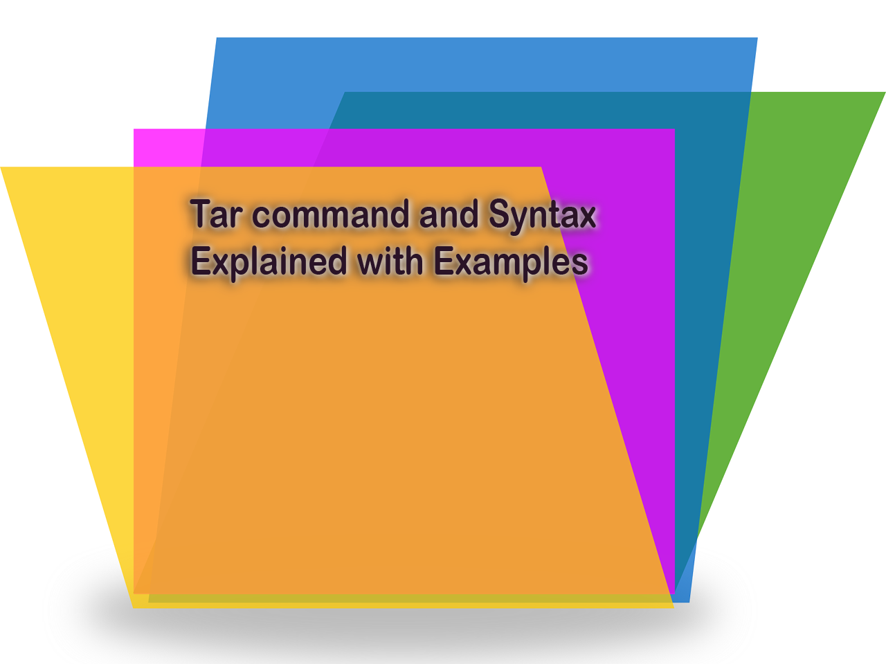 Tar command and Syntax Explained with Examples