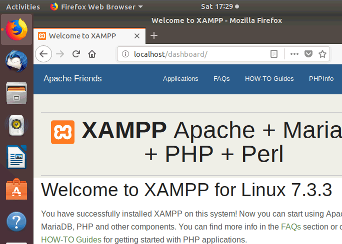 Auto Start XAMPP at Startup in Ubuntu Linux