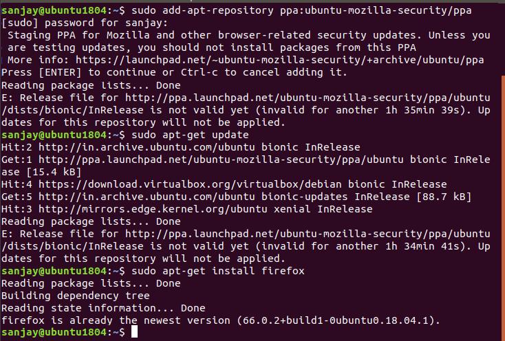 How to Update Firefox in Ubuntu Linux