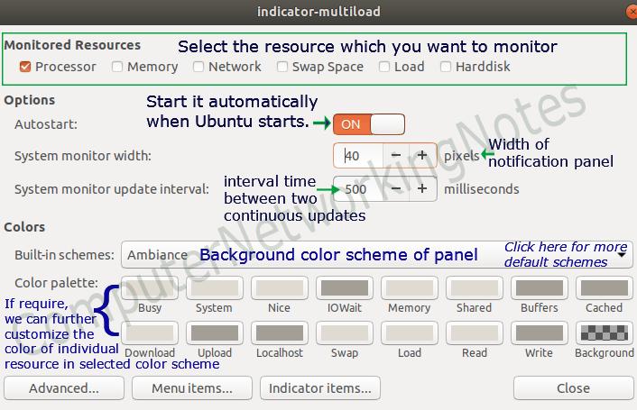 system indicator notification setting 1