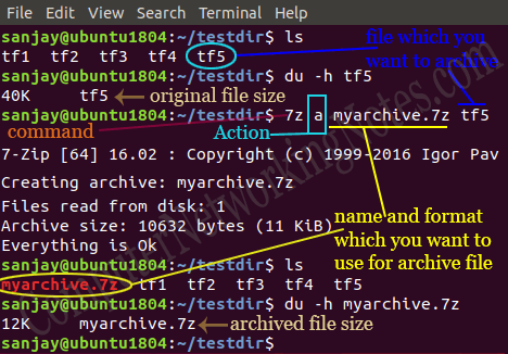 How to install and use 7zip in Ubuntu Linux