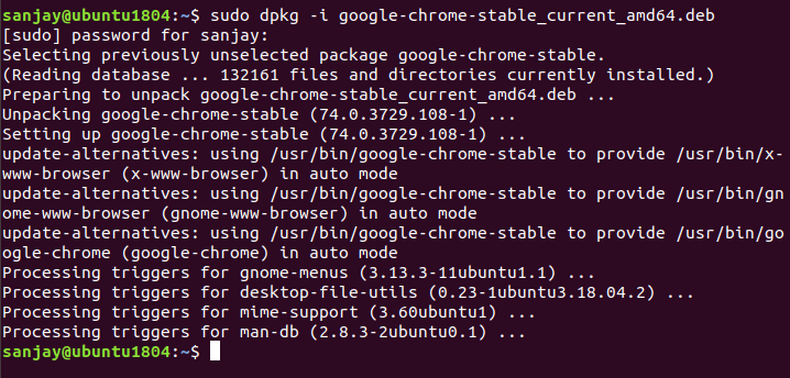 install the chrome cli prompt