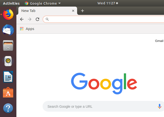 google chrome started from cli