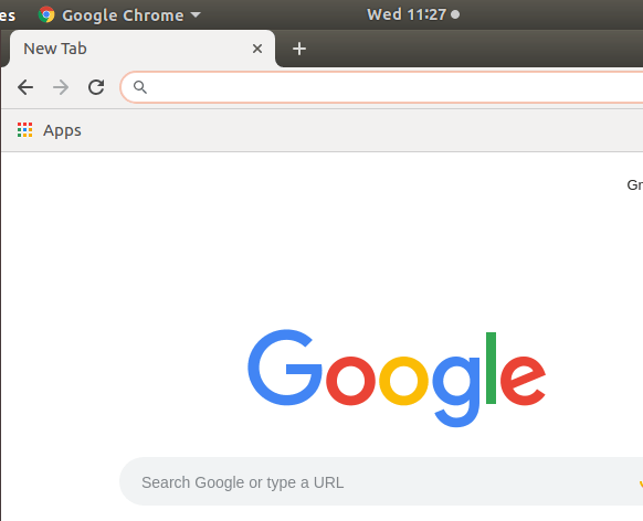 chrome started