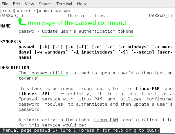 man command default search