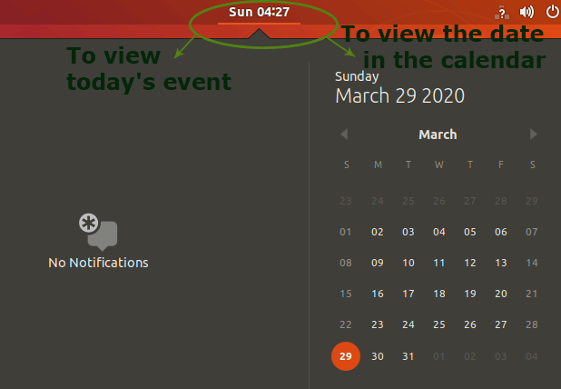 displaying date and time