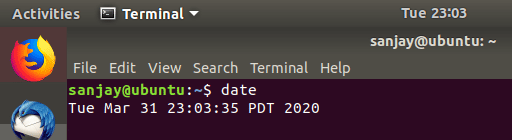viewing date on command prompt