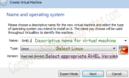 RHCE Practice LAB Select operating system