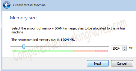 Virtual Box Select RAM Size