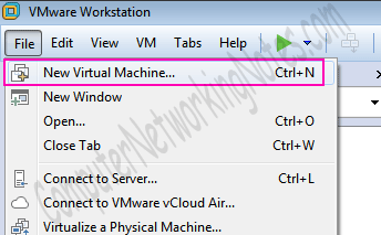 VMware workstation create new machine