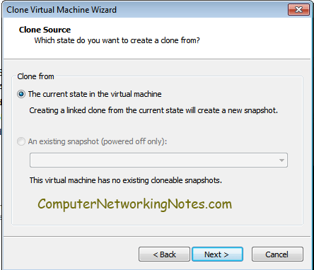 virtual machine clone state