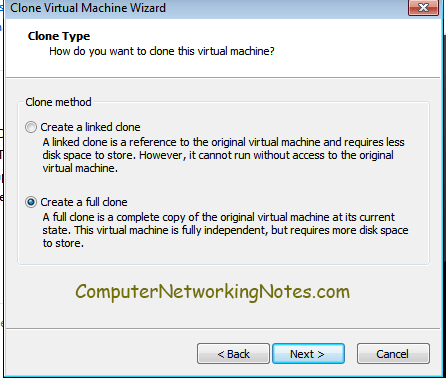 create full option virtual machine