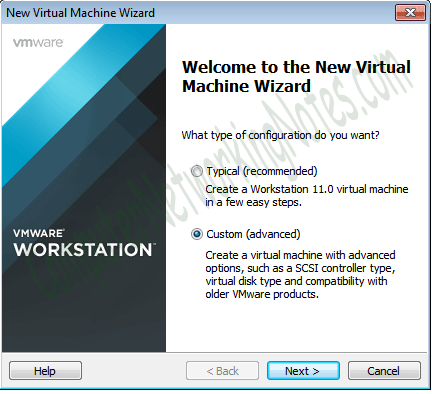 custom option virtual machine
