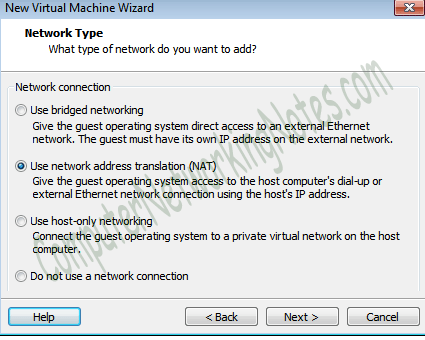 virtual machine network type