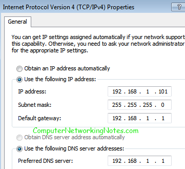set ip configuation