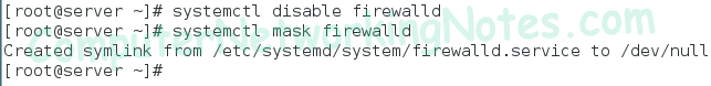 disable firewalld service