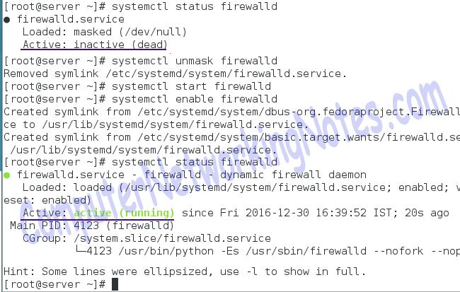 enable firewalld service