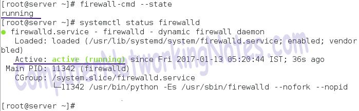 firewalld service status