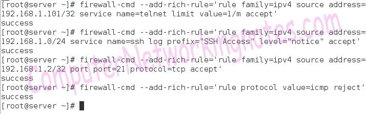 firewalld add rich rules