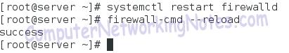firewalld service restart