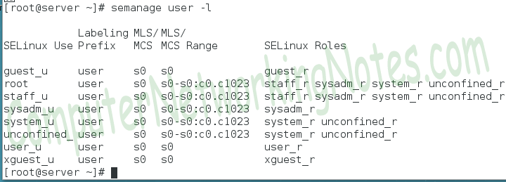 selinux policy type