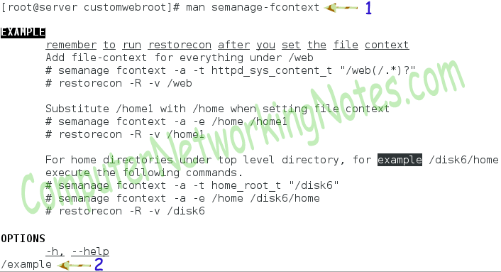 semanage command help