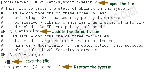 selinux enforcing mode