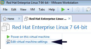 edit virtual machine