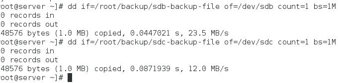 restore data back