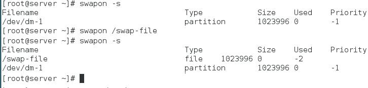 swapon swap file