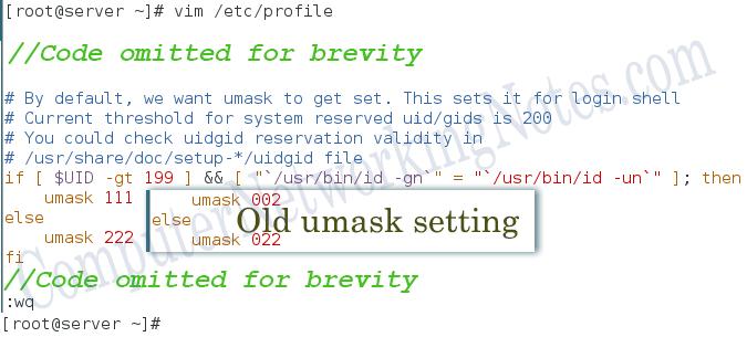 Linux umask setting testing