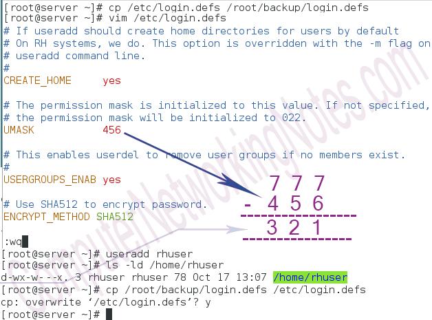 umask setting login defs